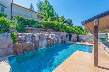 Gorgeous Lake View Home With Cascading Waterfall Pool