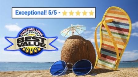 Daytona's BEST FAMILY FUN BEACH VACATION DEAL! Only 1 Block walk to the BEACH!