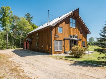Stunning timber frame barn with views of Sunday River Ski Resort