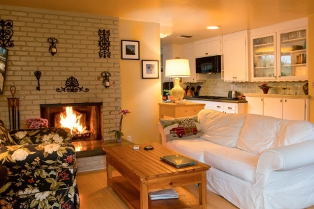 Private Garden Home with Large Saltwater Pool, Serene Office, Fireplace etc.